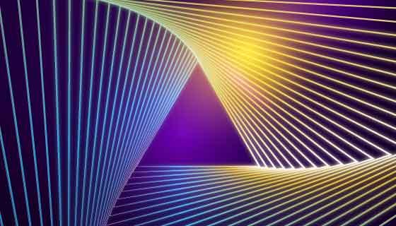 抽象霓虹灯背景矢量素材(AI/EPS)