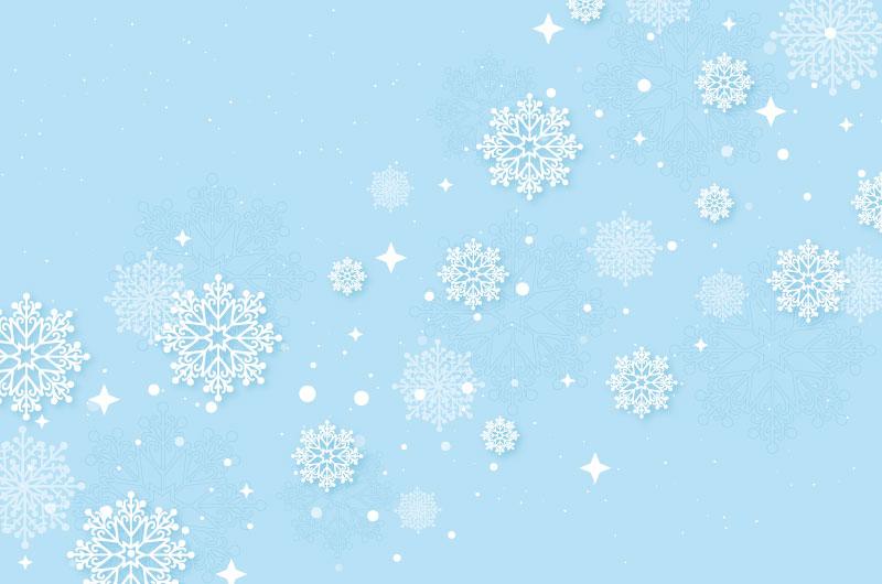 冬季雪花图案背景/墙纸矢量素材(AI/EPS)