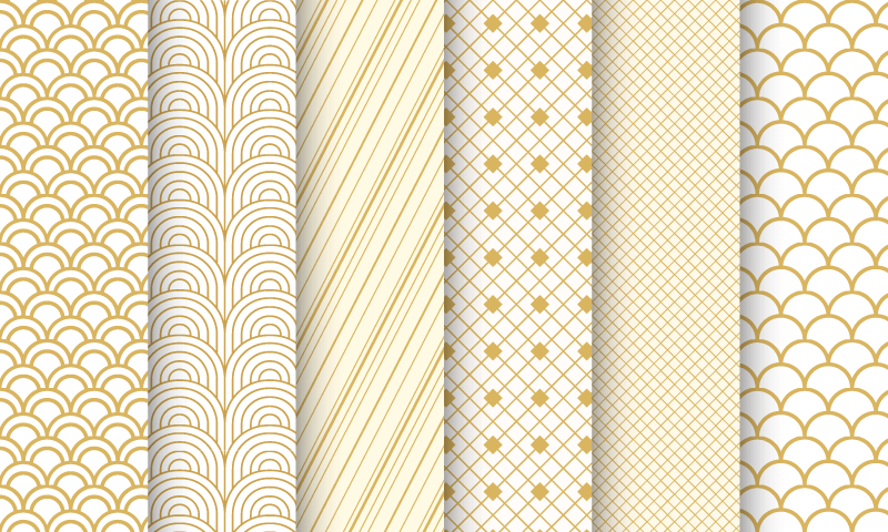 6张金色无缝背景矢量素材(EPS)