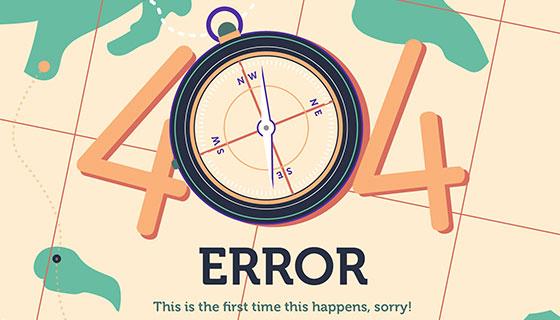 地图指南针设计404错误页面(EPS/AI)