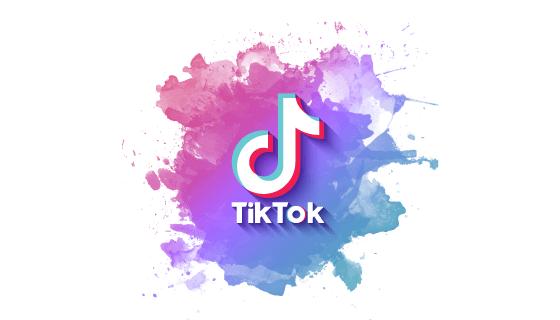 水彩涂鸦设计Tiktok logo矢量素材(EPS)