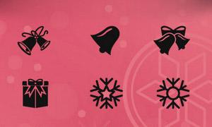 100个圣诞节矢量图标(PSD/SVG)