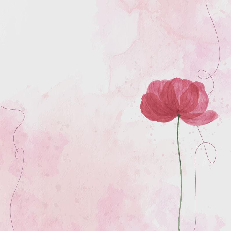 粉红色水彩花朵背景矢量素材(EPS)