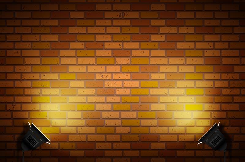 聚光灯和墙壁矢量素材(AI/EPS)
