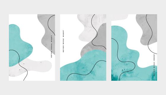 3张抽象风格的封面矢量素材(EPS)
