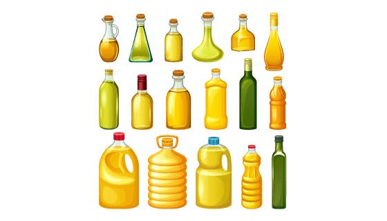 各种各样的油瓶矢量素材(EPS/PNG)
