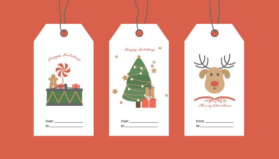 六个圣诞节书签矢量素材(EPS)