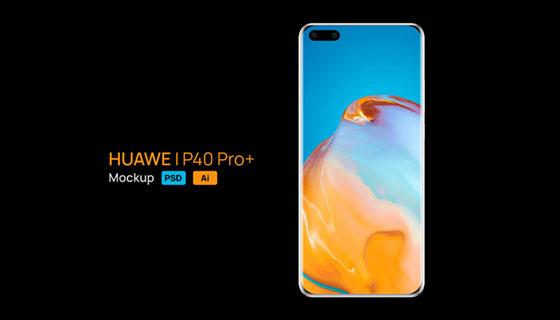 华为P40 Pro+手机模型素材(AI/PSD)