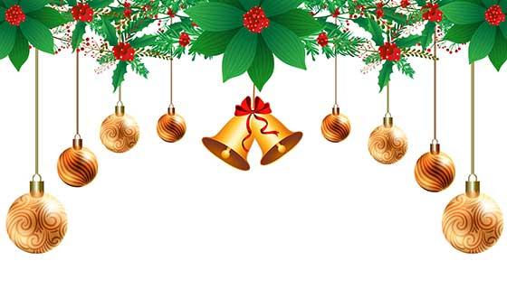 漂亮的装饰设计圣诞节快乐贺卡背景矢量素材(EPS)