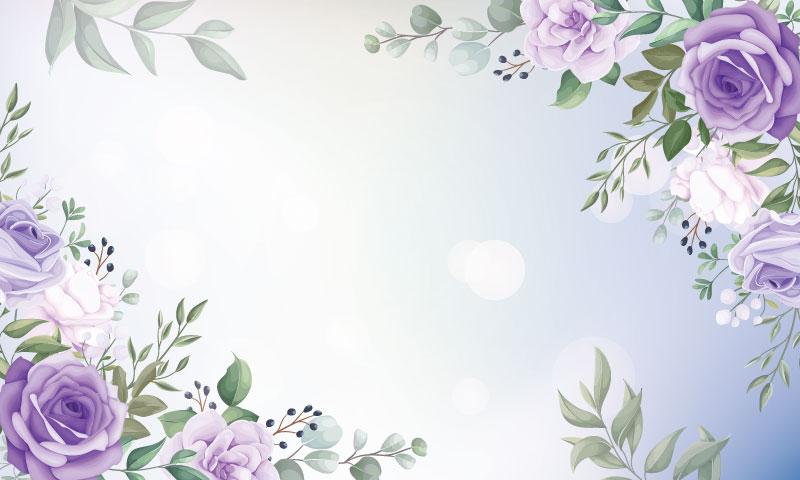 优雅漂亮的花卉框架背景矢量素材(EPS)