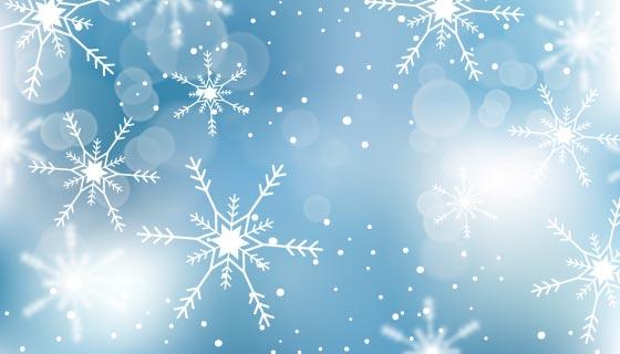 模糊的雪花冬天背景矢量素材(AI/EPS)