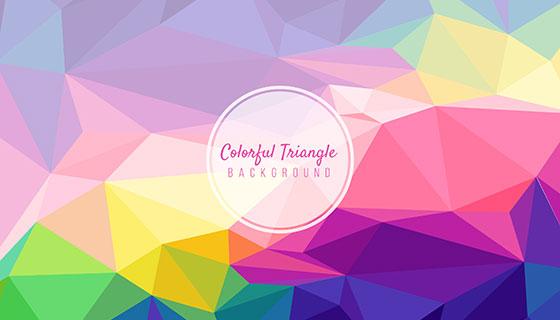 抽象多彩的三角形背景矢量素材(EPS/AI)