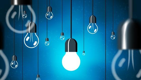吊着的灯泡矢量素材(EPS)