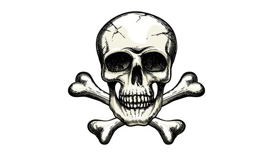 恐怖的骷髅头矢量素材(EPS/PNG)