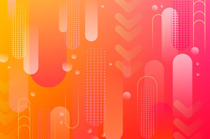 橙色红色渐变抽象半色调背景矢量素材(AI/EPS)