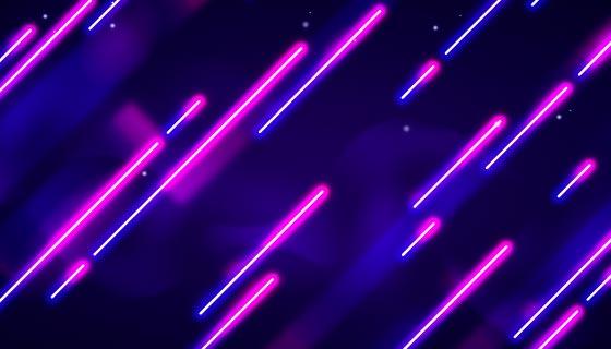 紫色霓虹灯背景/壁纸矢量素材(AI/EPS)