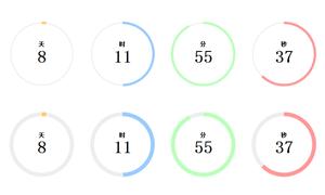 jQuery计时器插件TimeCircles