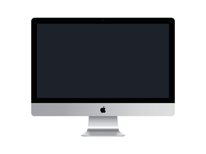 逼真的iMac模型矢量素材(Sketch)