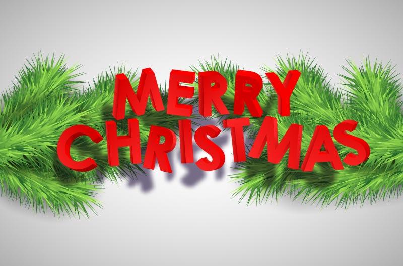 圣诞树枝设计的圣诞节背景矢量素材(EPS)