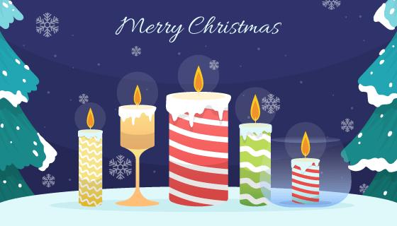 不同的蜡烛设计的圣诞节背景矢量素材(AI/EPS)