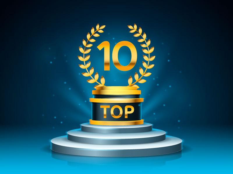 闪亮的Top 10奖项领奖台矢量素材(AI/EPS)