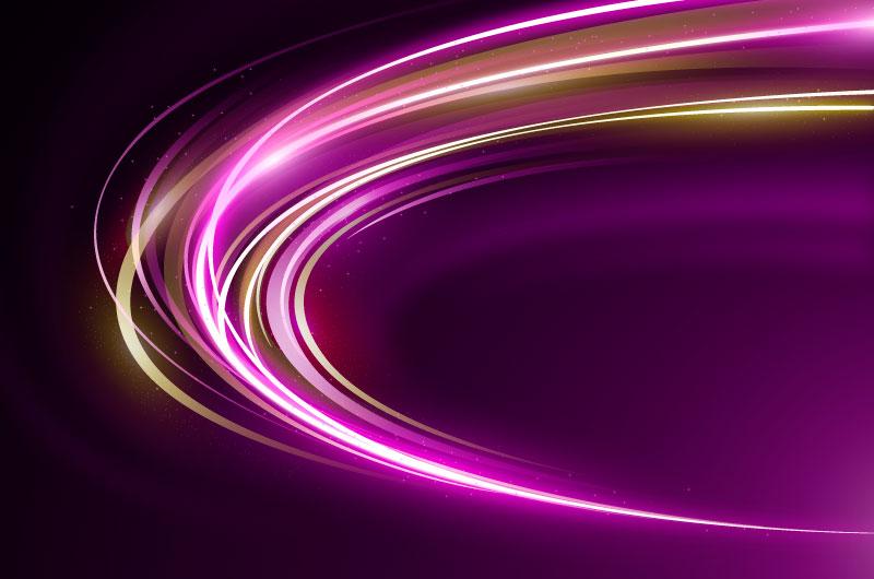 高速霓虹灯光线背景矢量素材(AI/EPS)
