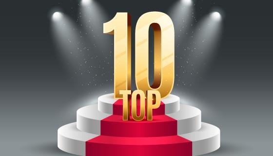 Top 10最佳奖项领奖台矢量素材(AI/EPS)