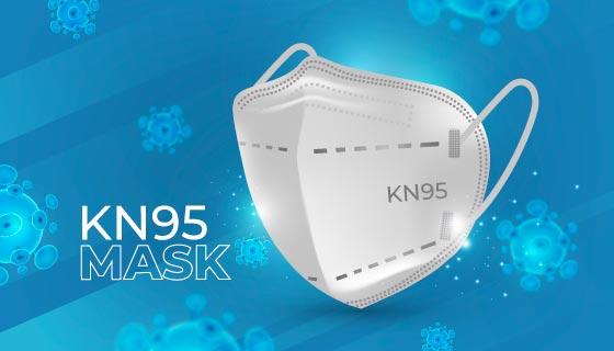 逼真的KN95口罩矢量素材(AI/EPS)