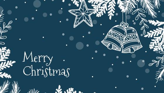 手绘风格圣诞节背景矢量素材(AI/EPS)