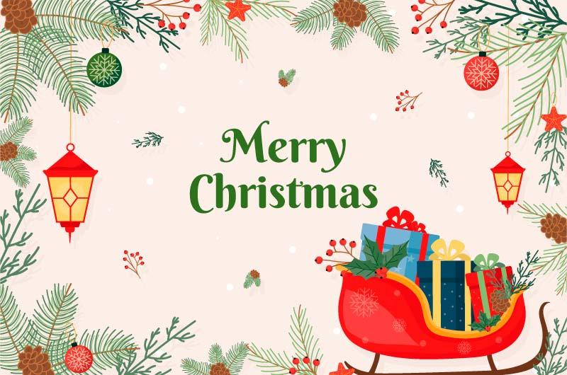 各种装饰设计的圣诞节背景矢量素材(AI/EPS)