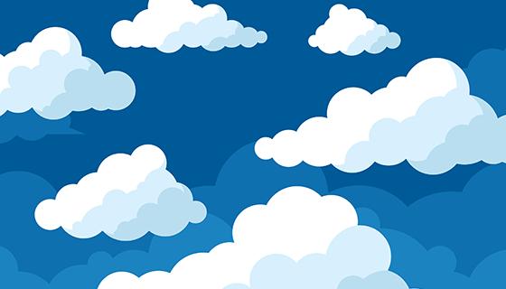 白云背景矢量素材(EPS/AI)
