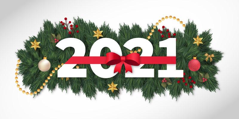 圣诞装饰设计2021新年快乐矢量素材(EPS)