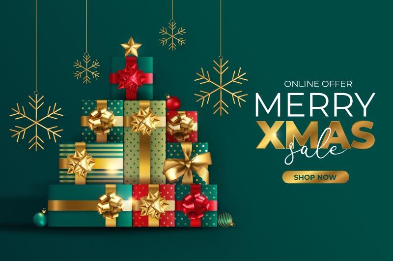 圣诞礼物设计圣诞促销背景矢量素材(EPS)
