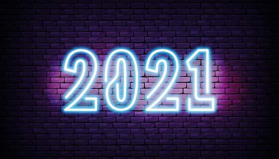 霓虹灯背景墙设计2021矢量素材(EPS)