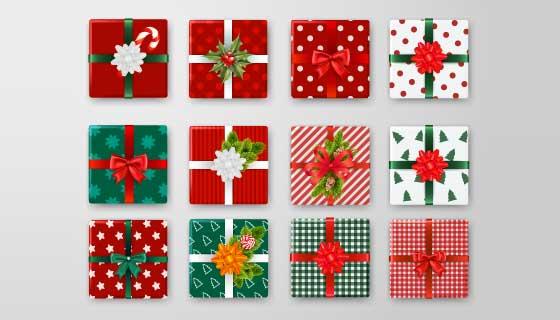 12个精美的礼盒包装矢量素材(EPS)