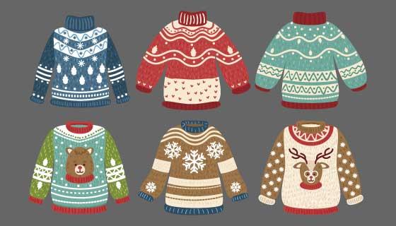 六件可爱的毛衣矢量素材(AI/EPS/PNG)