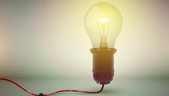 发光的灯泡矢量素材(EPS)