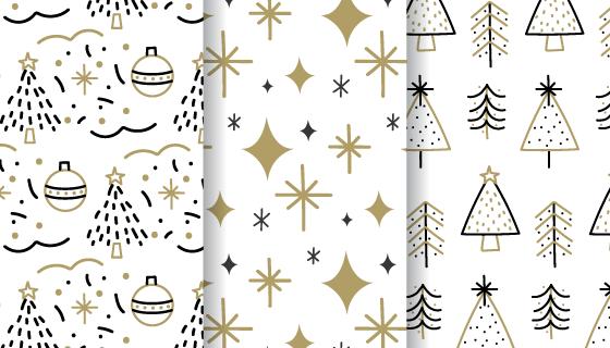 手绘风格圣诞节无缝背景矢量素材(AI/EPS)