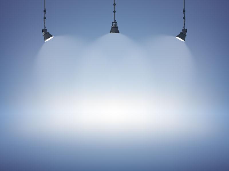 扁平风格的聚光灯背景矢量素材(EPS)