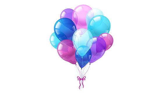逼真的彩色气球矢量素材(EPS)