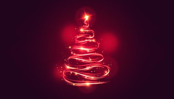 光线轨迹设计的圣诞树矢量素材(AI/EPS)