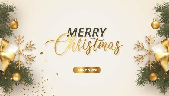 精美礼物设计圣诞节banner矢量素材(EPS)