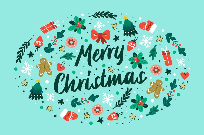各种圣诞元素设计圣诞节背景矢量素材(AI/EPS/免扣PNG)