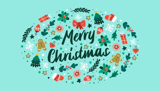 各种圣诞元素设计圣诞节背景矢量素材(AI/EPS/PNG)