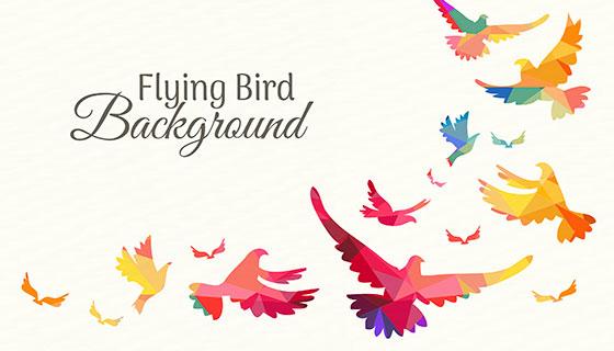 五颜六色的鸟背景矢量素材(EPS/AI)