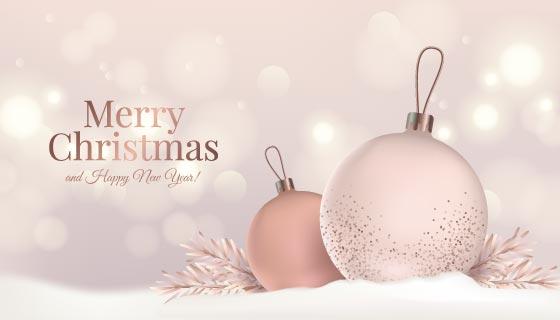 优雅的圣诞节背景矢量素材(AI/EPS)
