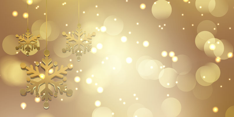金色雪花设计圣诞节背景矢量素材(EPS)