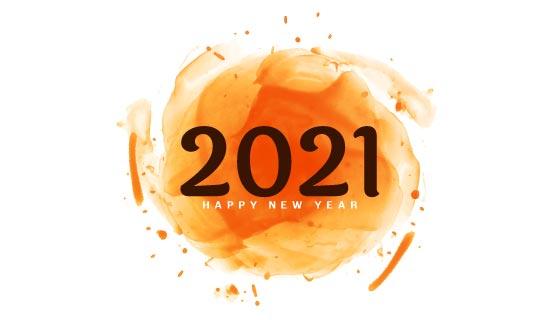 抽象球体设计2021新年快乐矢量素材(EPS)