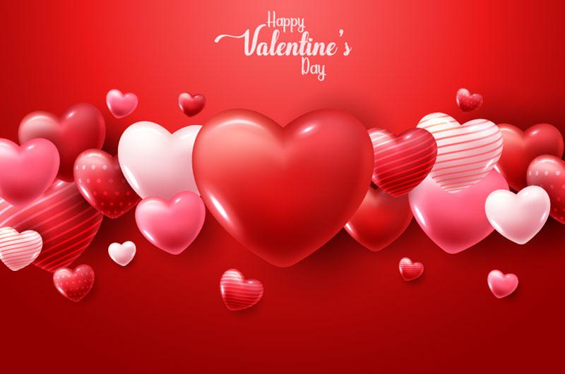 立体爱心设计情人节快乐矢量素材(EPS)