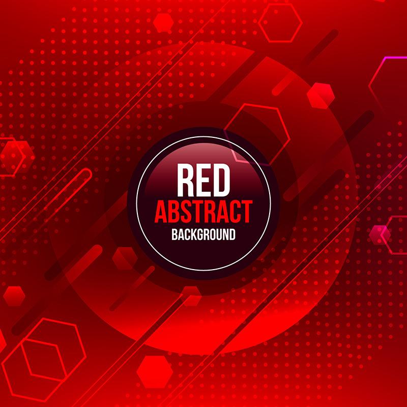 红色抽象背景矢量素材(EPS/AI)